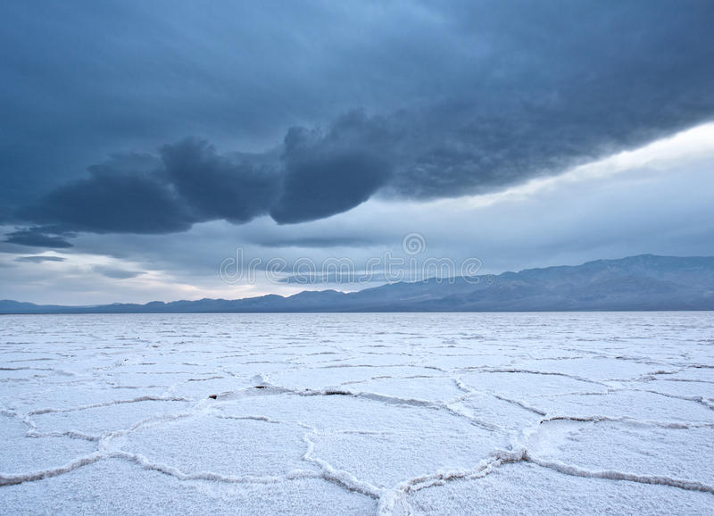 Download Badwater Salt Flats During A Storm Stock Photo - Image: 23907646