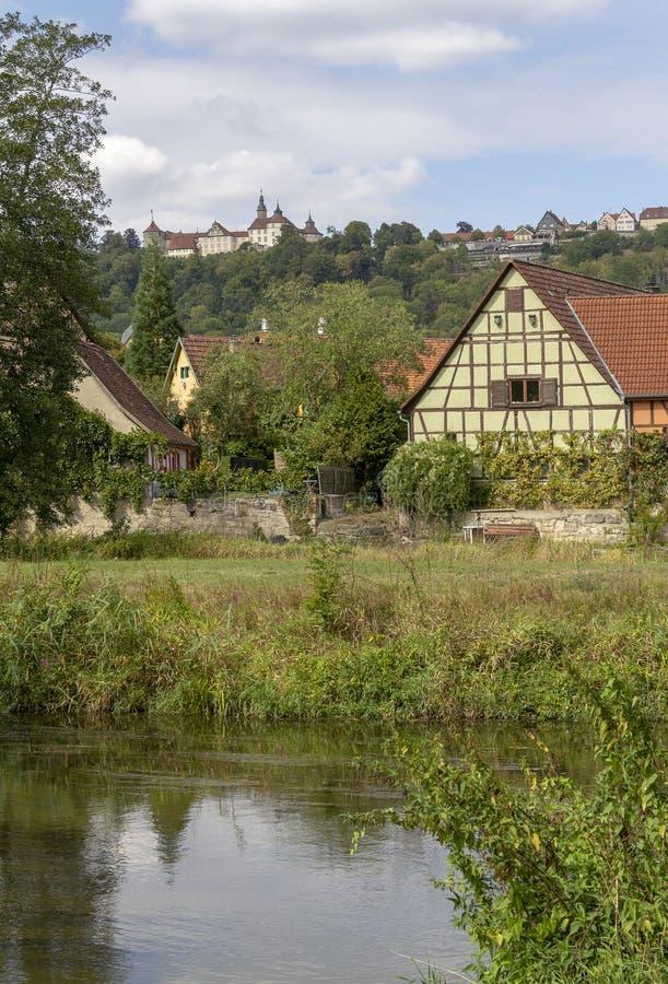 Baechlingen in Hohenlohe fotografia stock libera da diritti