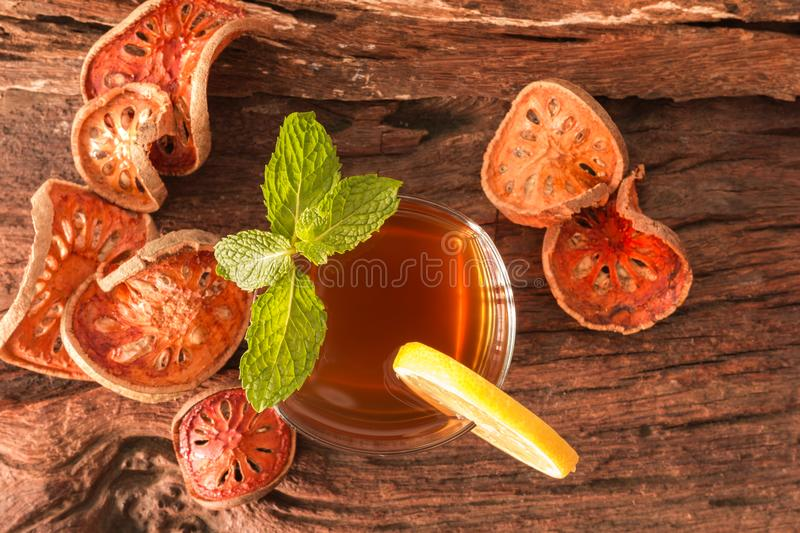 Bael fruit tea royalty free stock photography