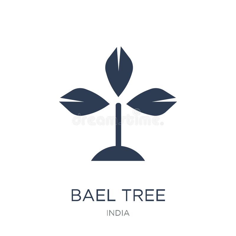 Bael tree icon. Trendy flat vector Bael tree icon on white background from india collection stock illustration