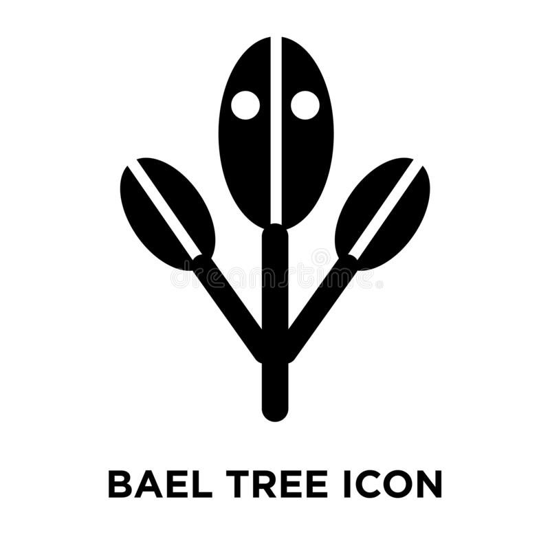 Bael tree icon vector isolated on white background, logo concept royalty free illustration