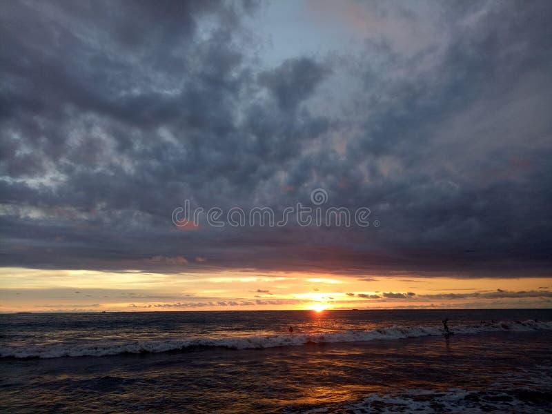 Baeutiful solnedgång royaltyfri bild