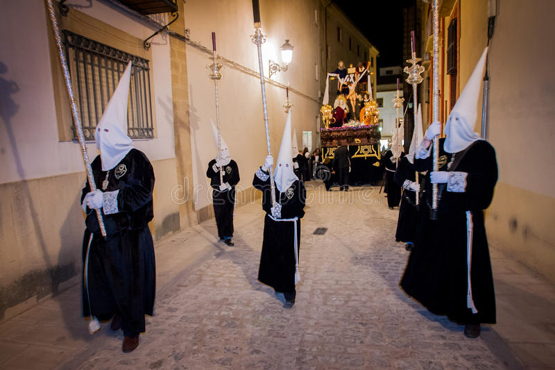 Baeza, Andalusia, province of Jaén, Spain - Semana santa stock images