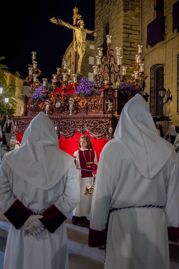 Baeza, Andalusien, Provinz von Jaén, Spanien - Semana Sankt lizenzfreies stockbild
