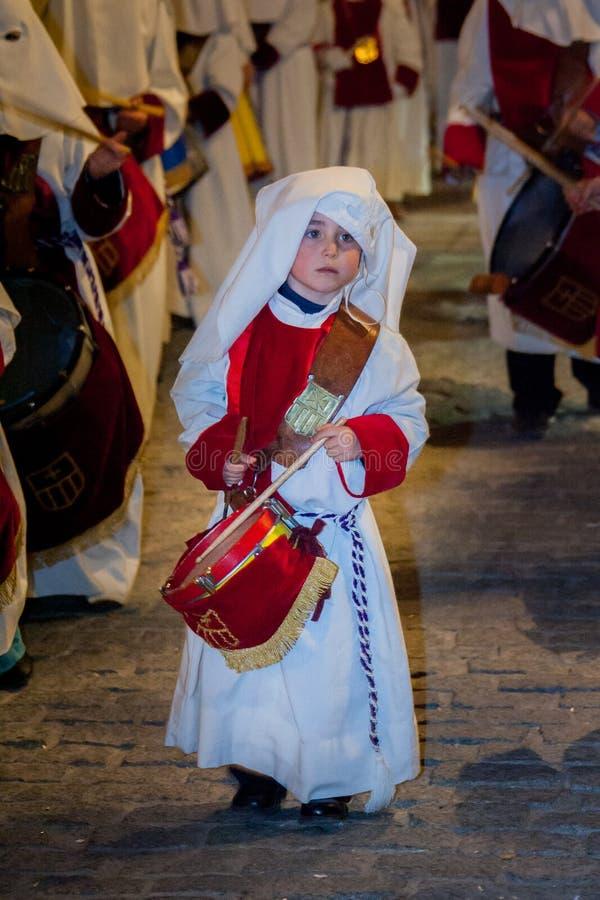 Baeza, a Andaluzia, província de Jaén, Espanha - Semana Santa imagem de stock