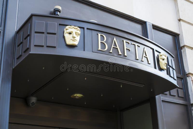 BAFTA-byggnad fotografering för bildbyråer