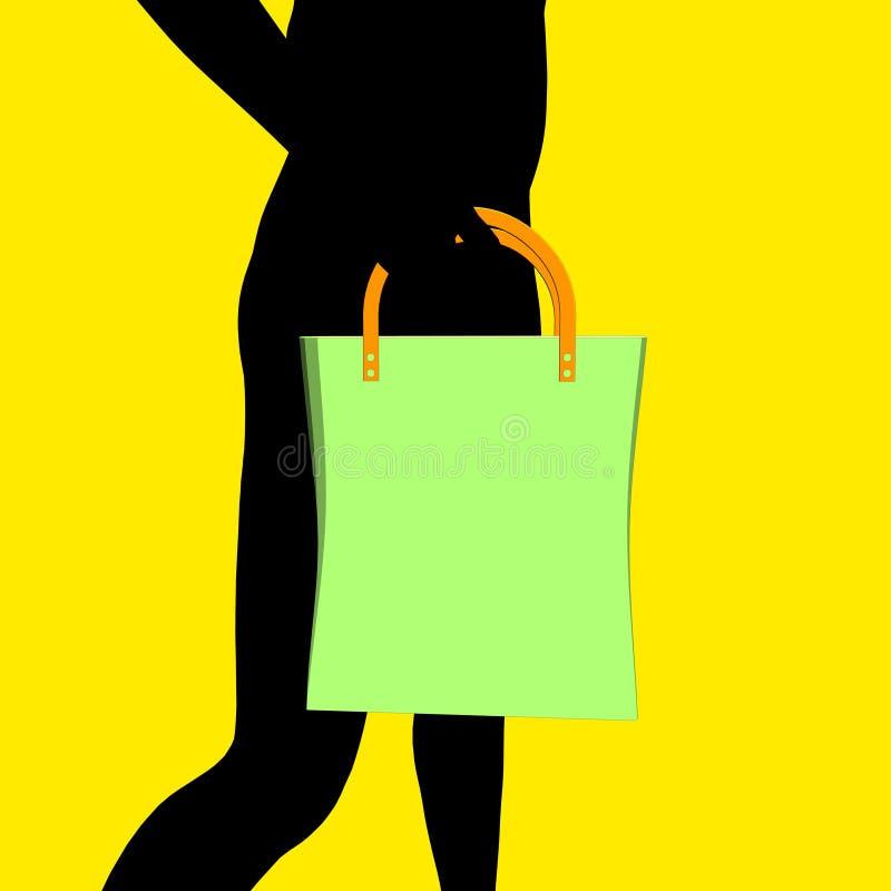 Download Bag stock illustration. Image of woman, holidays, valise - 11714861