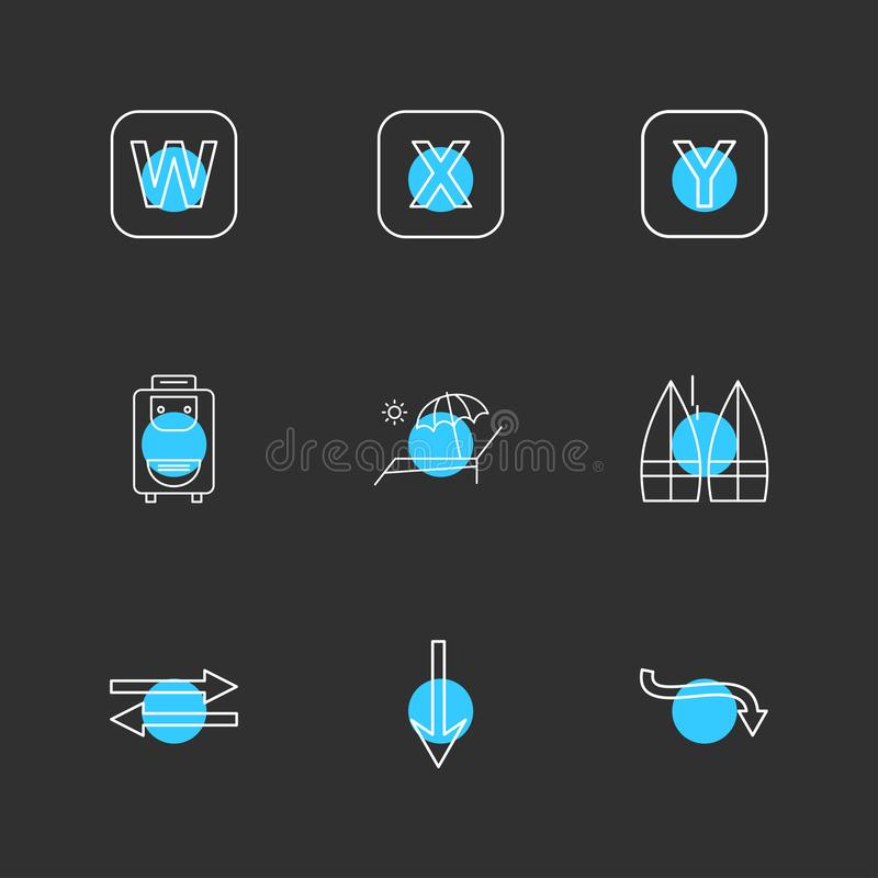 bag , boats , alphabets , sea , food , picnic , summer , eps icons set vector vector illustration