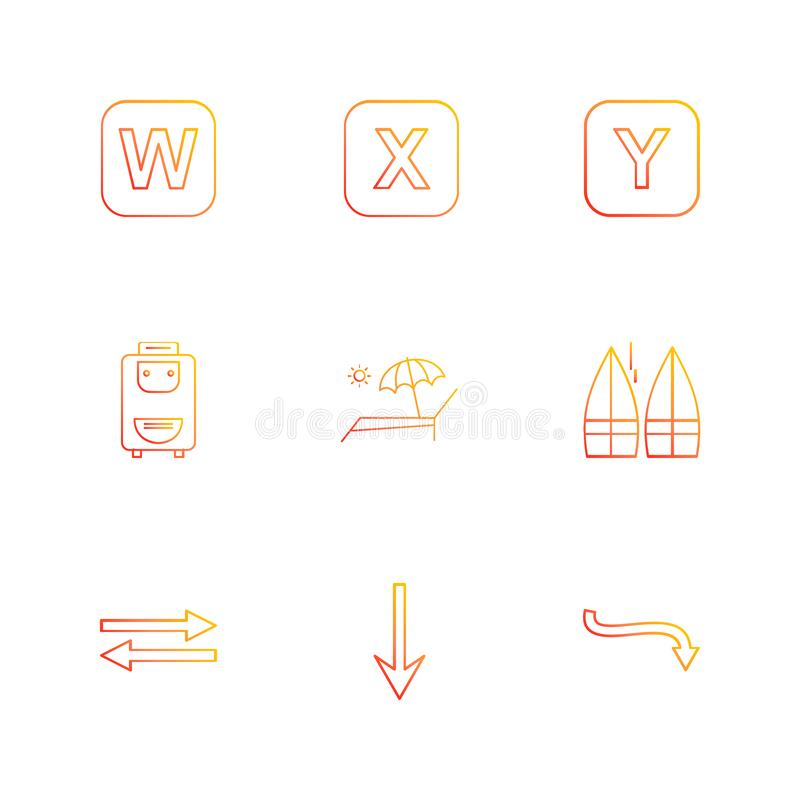 bag , boats , alphabets , sea , food , picnic , summer , eps icons set vector royalty free illustration