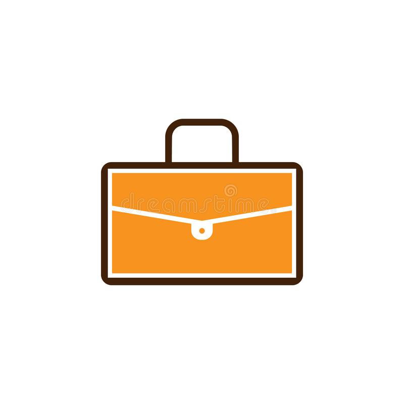 Bag, briefcase icon. Element of Web Optimization icon for mobile concept and web apps. Detailed Bag, briefcase icon can be used. For web and mobile on white stock illustration