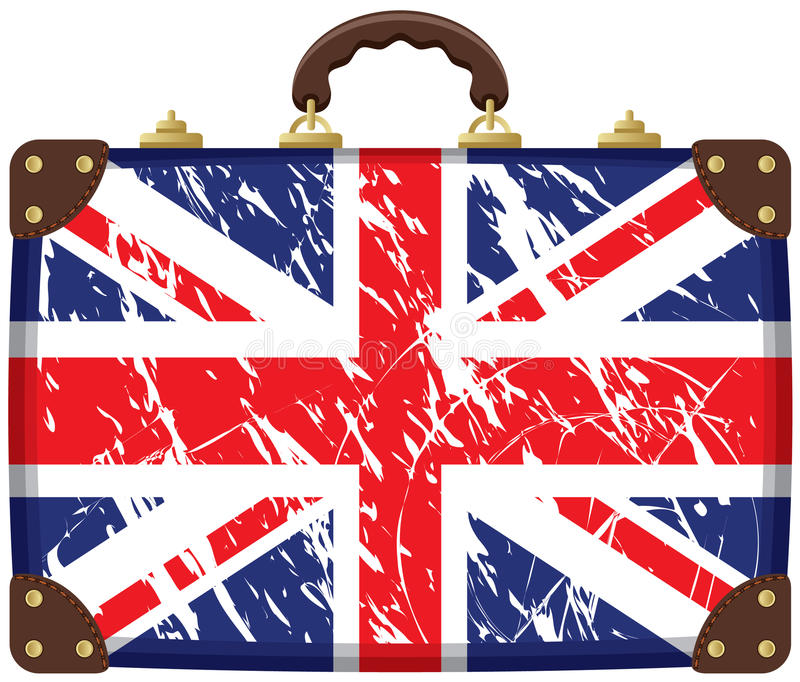 Download Bag with a British flag stock vector. Image of dirty - 23035880