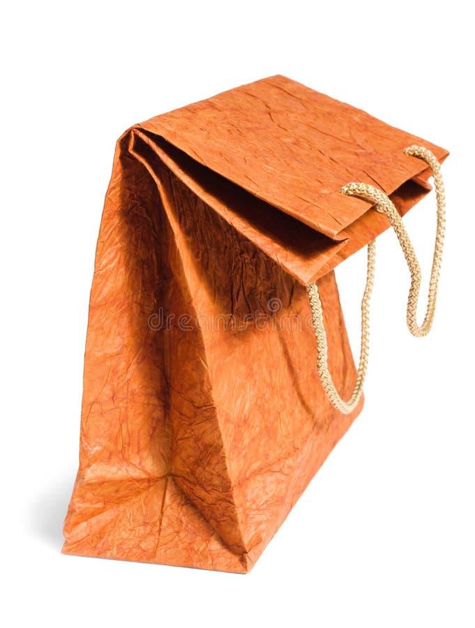 bag brown sladtt papper royaltyfri fotografi
