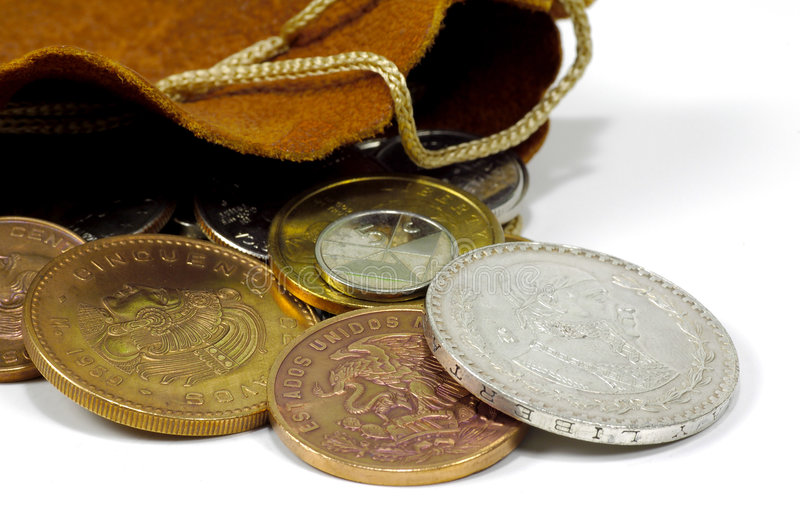 Download Bag of Coins stock photo. Image of treasure, money, currency - 106962
