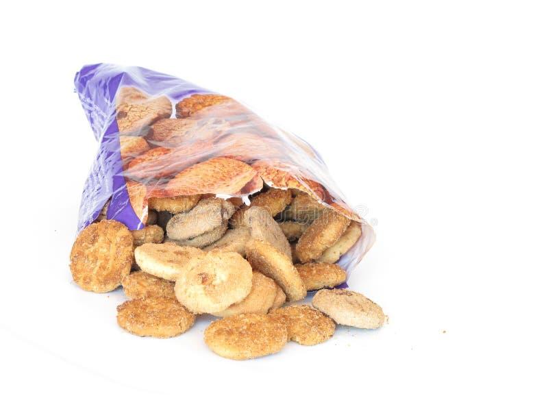 Bag of cookies stock image