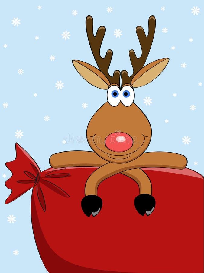 Download Bag deer stock vector. Image of december, painting, mammal - 20780609