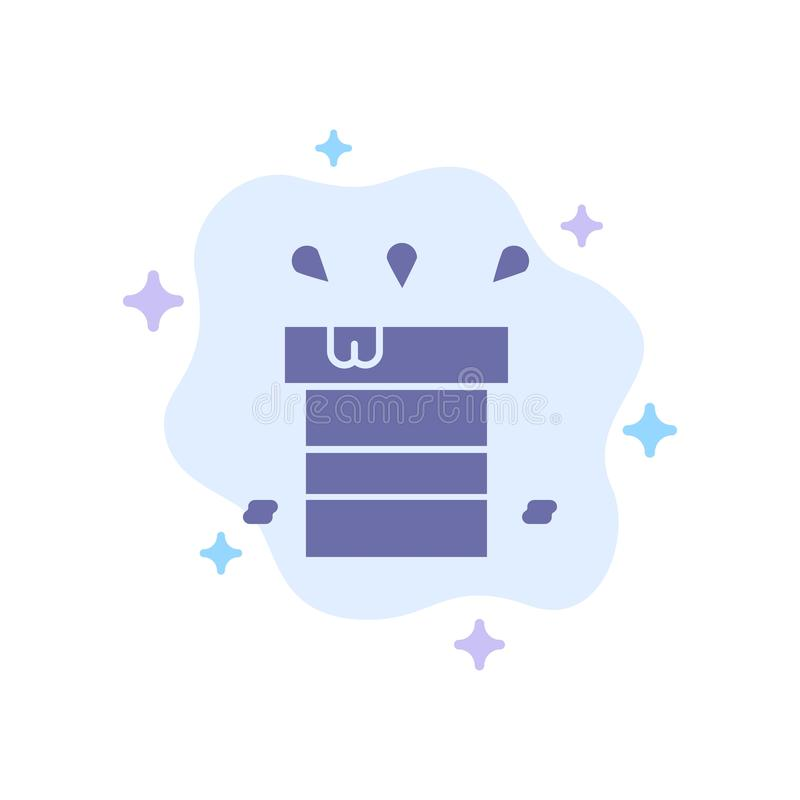 Bag, Dry, Miscellaneous, Resistant, Water Blue Icon on Abstract Cloud Background royalty free illustration