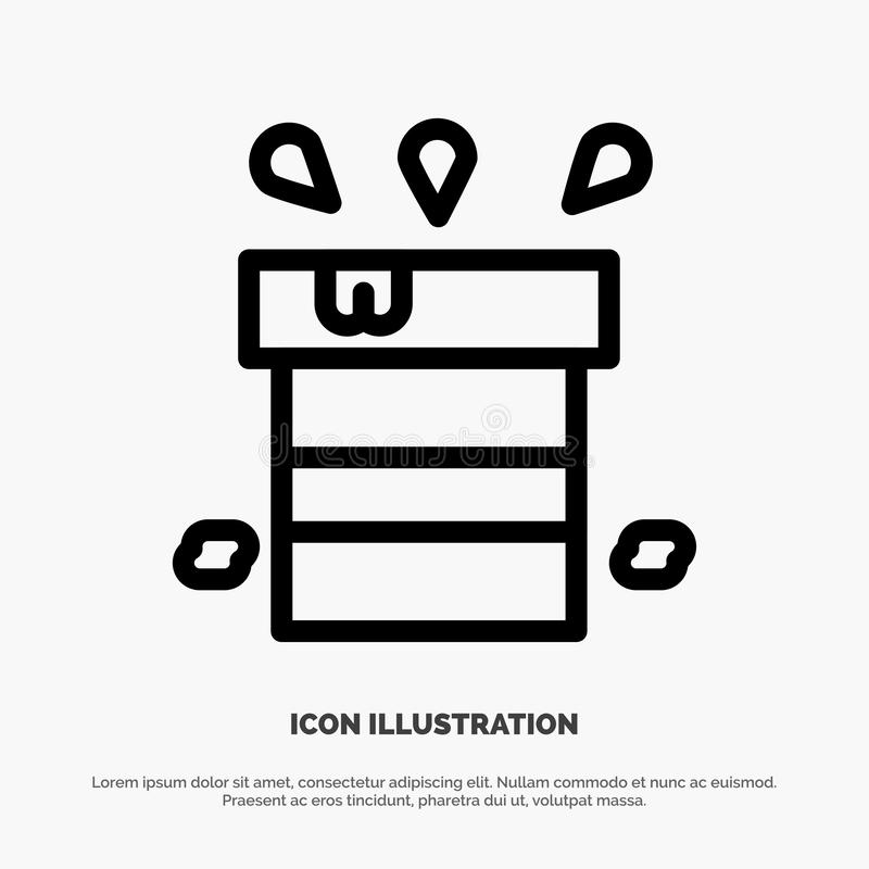 Bag, Dry, Miscellaneous, Resistant, Water Line Icon Vector royalty free illustration