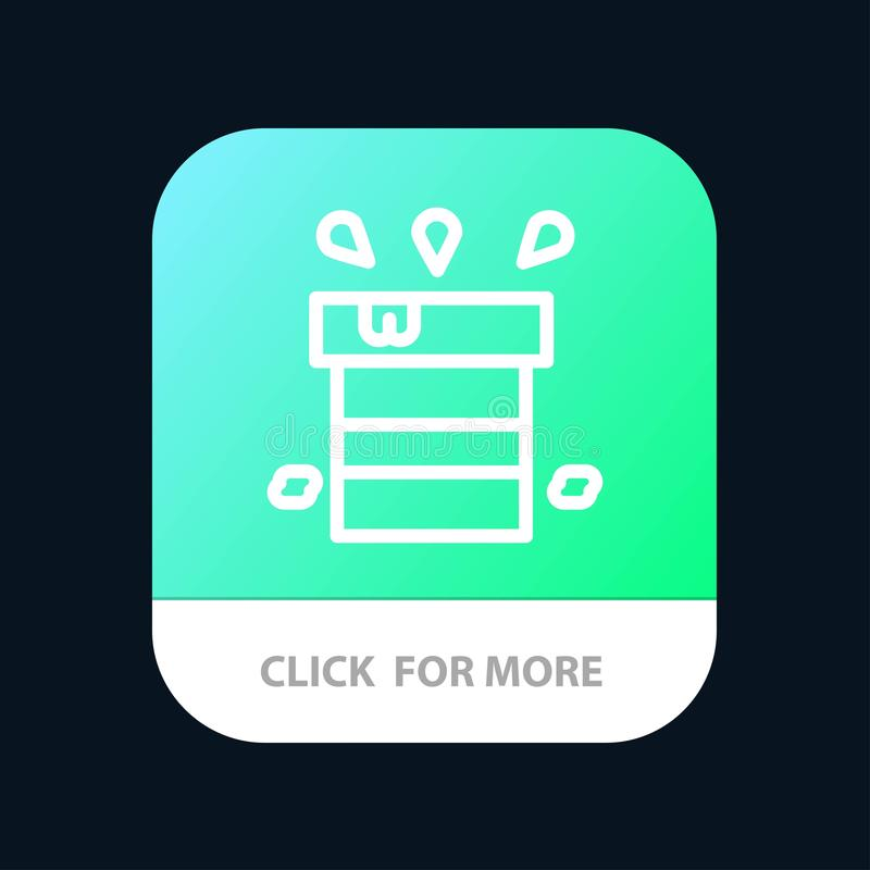 Bag, Dry, Miscellaneous, Resistant, Water Mobile App Button. Android and IOS Line Version stock illustration