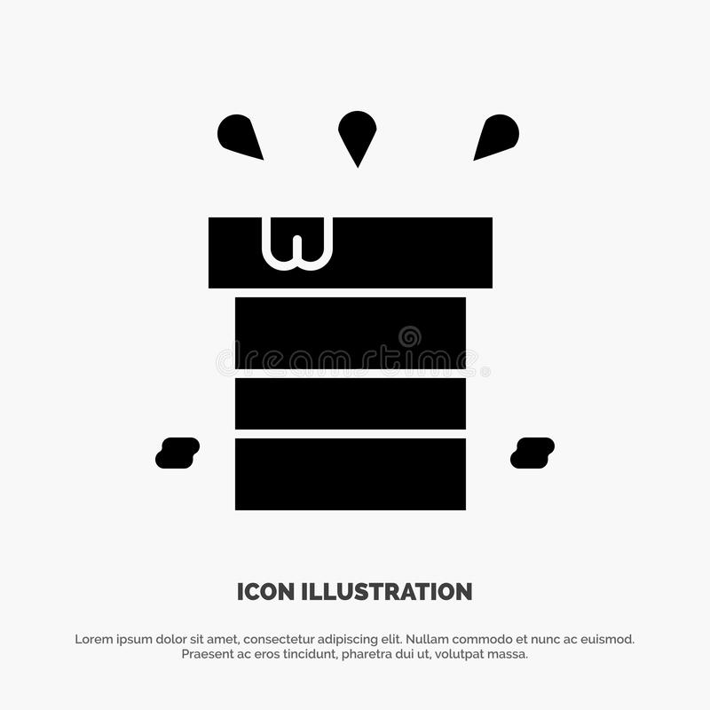 Bag, Dry, Miscellaneous, Resistant, Water solid Glyph Icon vector stock illustration
