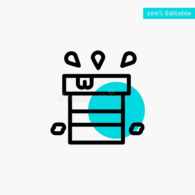 Bag, Dry, Miscellaneous, Resistant, Water turquoise highlight circle point Vector icon vector illustration
