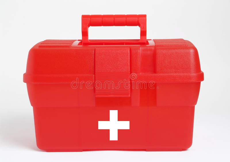 Bag of first aid royalty free stock photography