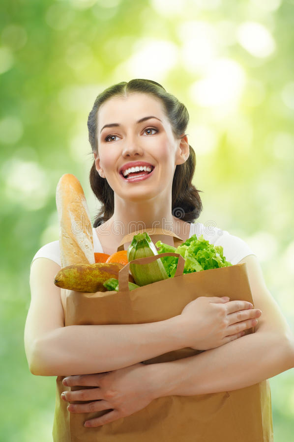 Bag of food stock photos