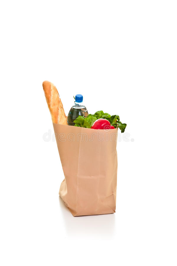 Download Bag full of groceries stock photo. Image of food, green - 18518022