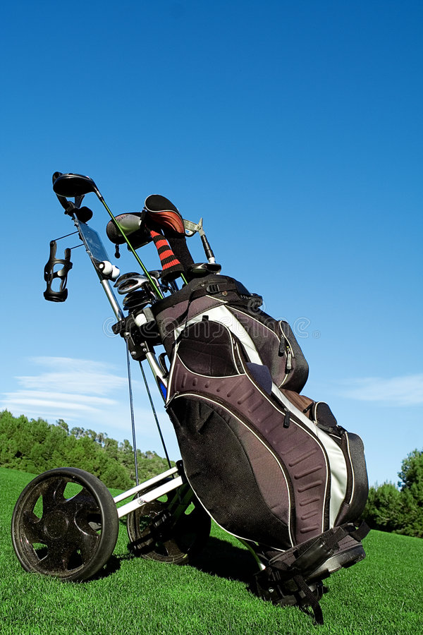 bag golf royaltyfri foto