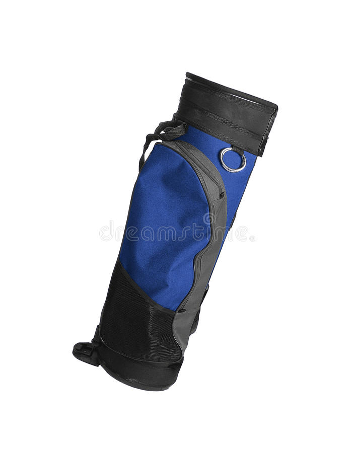 Bag for golf clubs. Isolated on white background royalty free stock photos