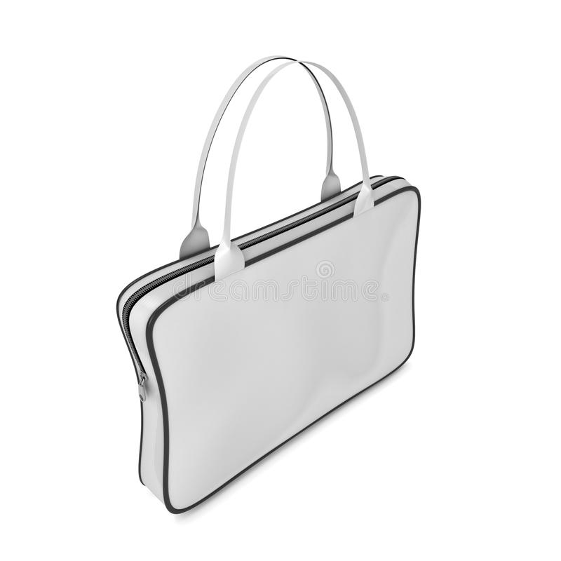 Bag with handles and zipper royalty free illustration