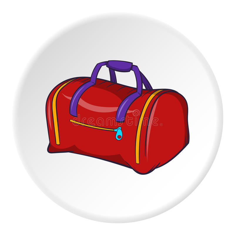 Bag icon, cartoon style royalty free illustration