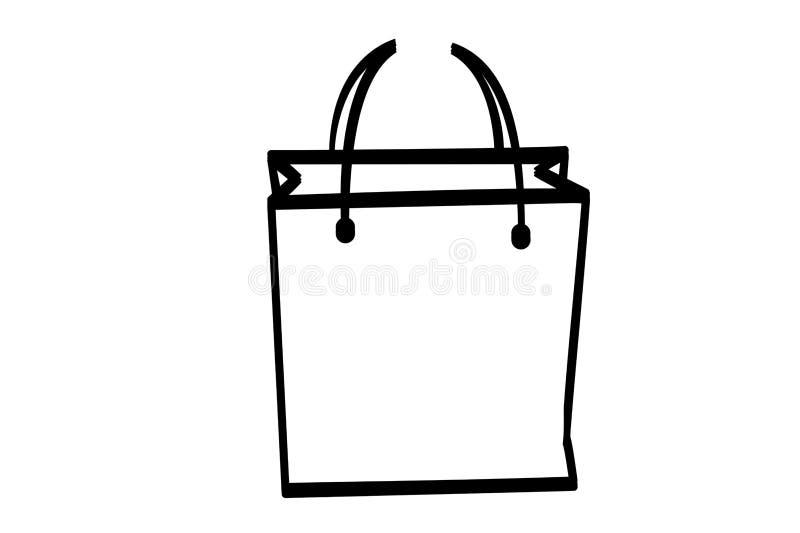 Bag icon on white background vector illustration
