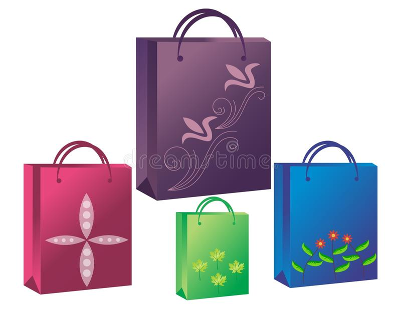 Bag icons. An Illustration for Designer Shopping Bags vector illustration