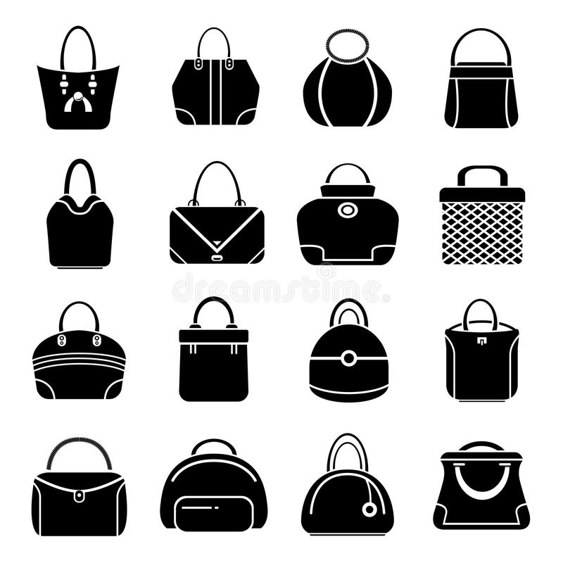 Bag icons stock illustration