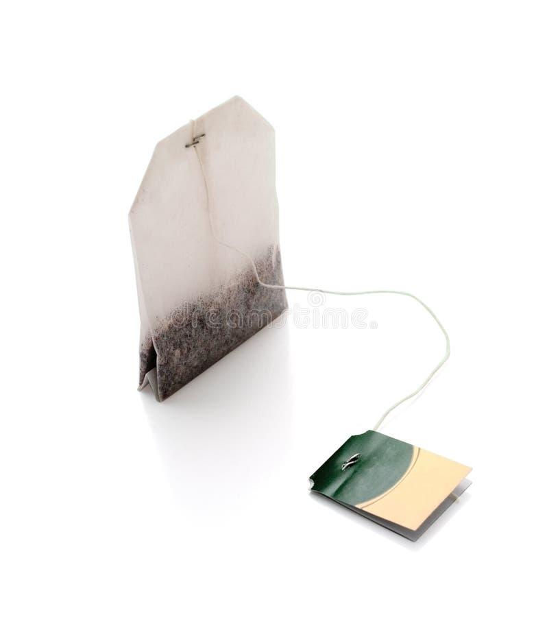 bag isolerad tea royaltyfri bild