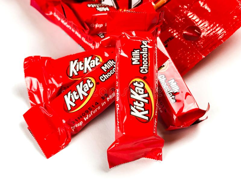 Bag of Kit Kat Chocolate Candy royalty free stock image