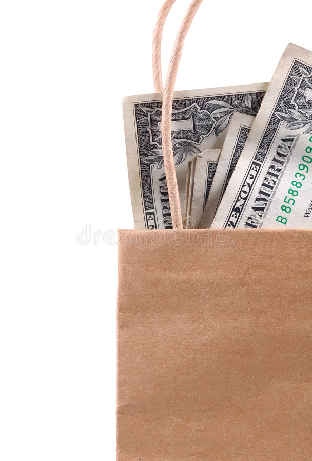 Bag of Money royalty free stock photos