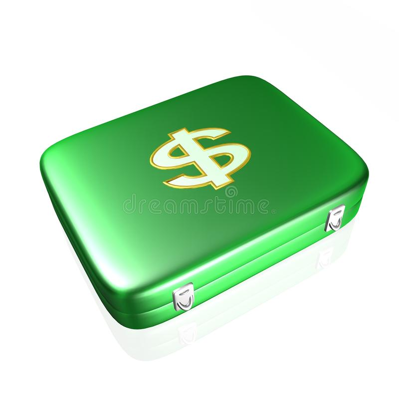 Bag for money, 3D illustration. Bag for money,best 3D illustration royalty free illustration