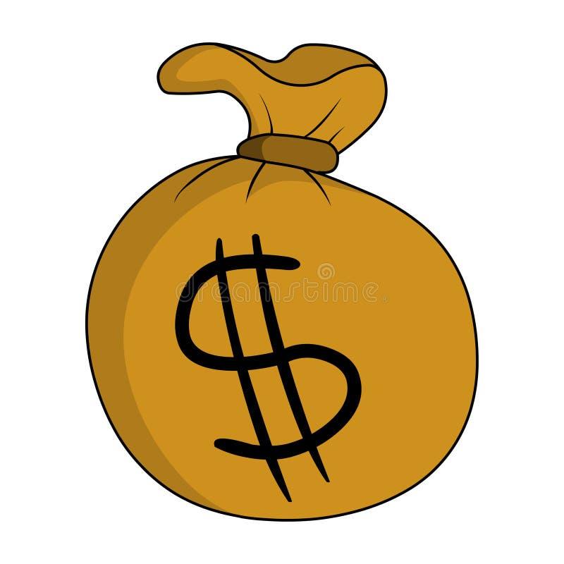 Bag of money royalty free illustration