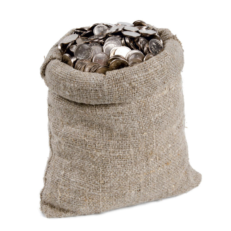 Bag of money. royalty free stock image