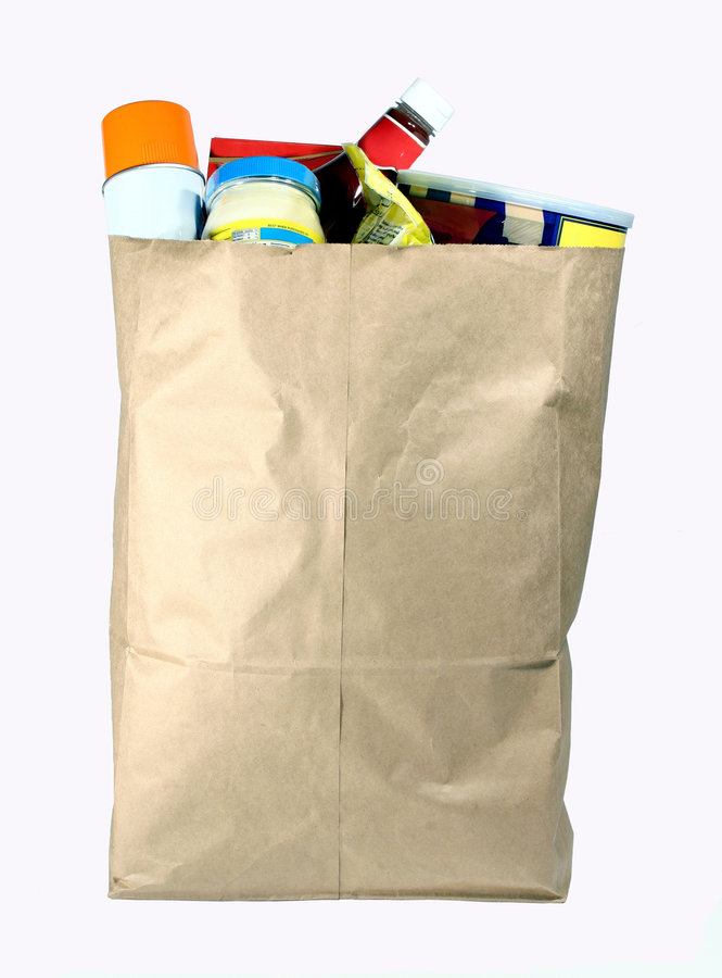 Free Bag Of Groceries Royalty Free Stock Photo - 613335