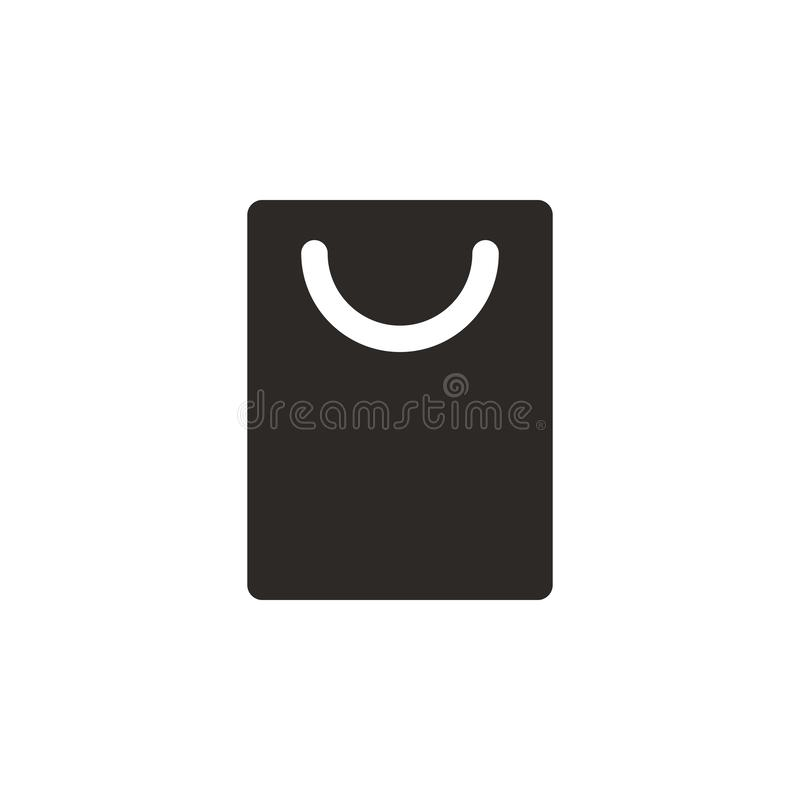 Bag, product, shop vector icon. Simple element illustration from UI concept. Bag, product, shop vector icon. Finance concept stock illustration
