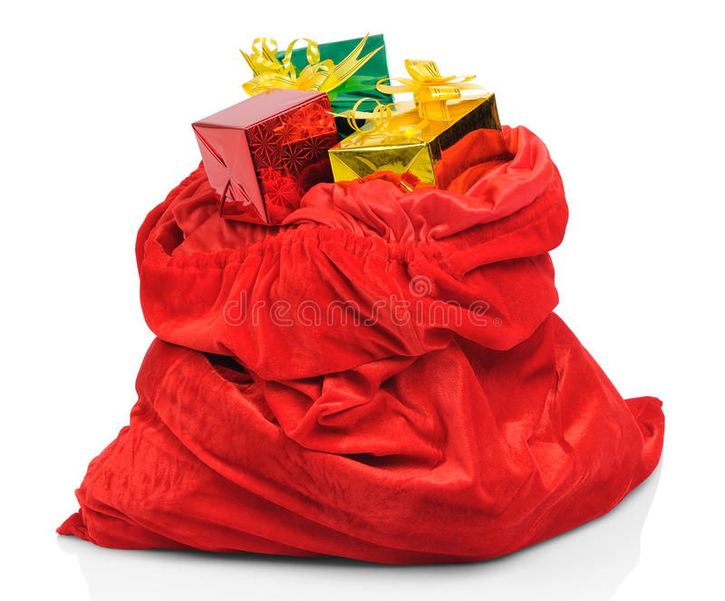 Download Bag Of Santa Claus With Gifts Stock Photo - Image: 21790032