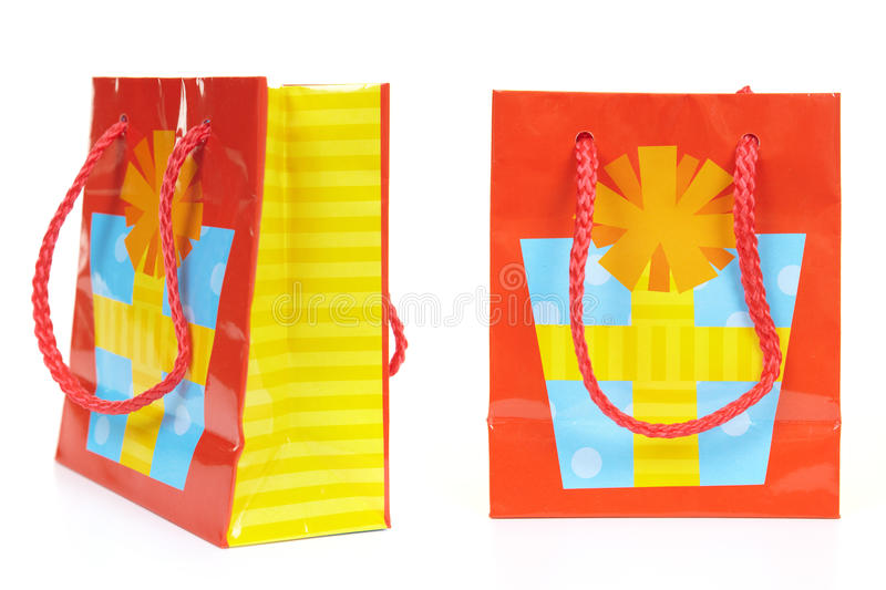 Bag for shopping. On a white background royalty free stock image