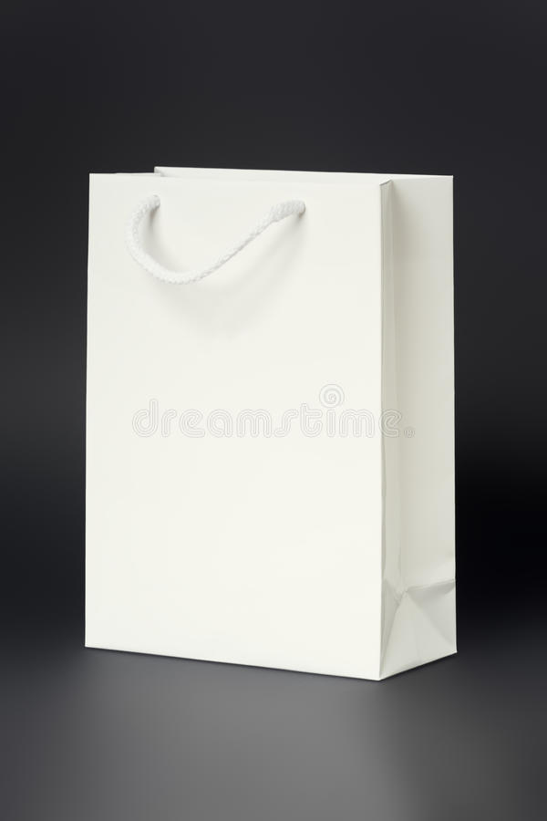 bag shoppingwhite arkivbilder