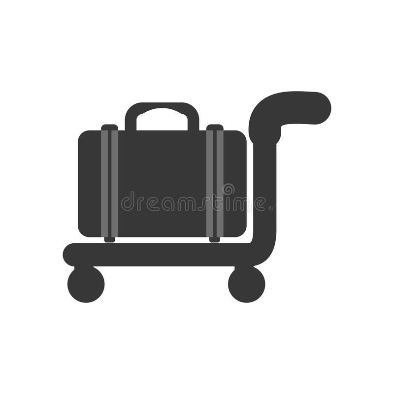 Bag silhouette icon. Travel design. Vector graphic. Travel concept represented by bag silhouette icon. Isolated and flat illustration vector illustration