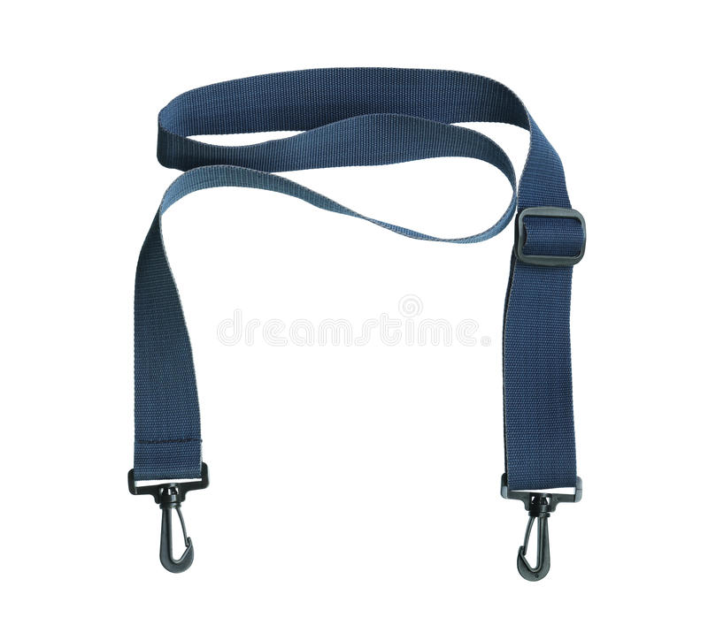 Bag strap. Isolated on white background royalty free stock photo