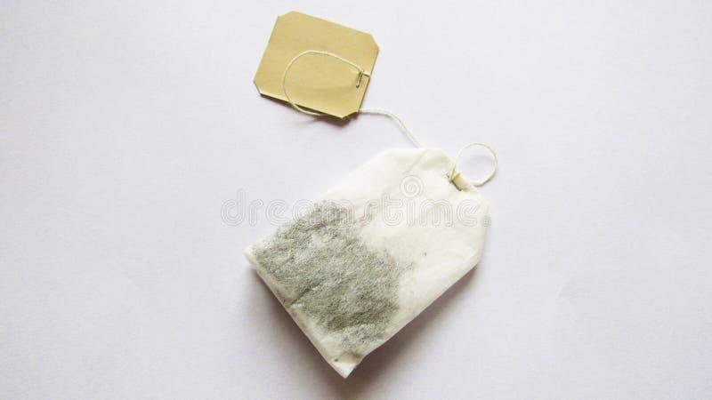 A bag of tea on a white background stock photos