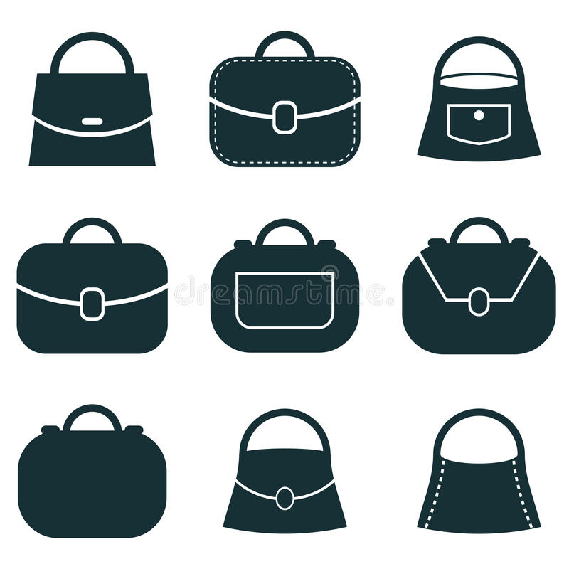 bag vector icons set symbols collection stock vector rh dreamstime com bag vector free back vector
