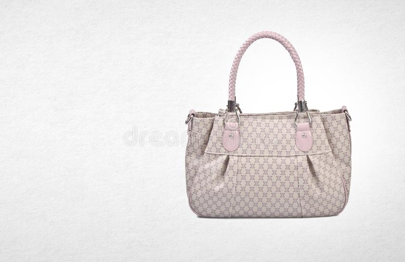 bag or women bag on a background. royalty free stock photography